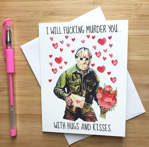 Jason Friday The 13th Valentine's Day Card