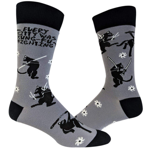Every Kitty Was Kung-Fu Fighting Socks