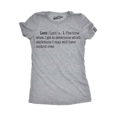 Lent Definition Women's Tshirt