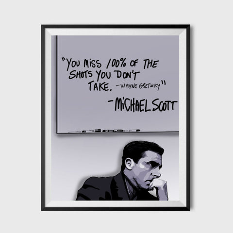 Michael Scott Inspirational Quote Poster 11x17