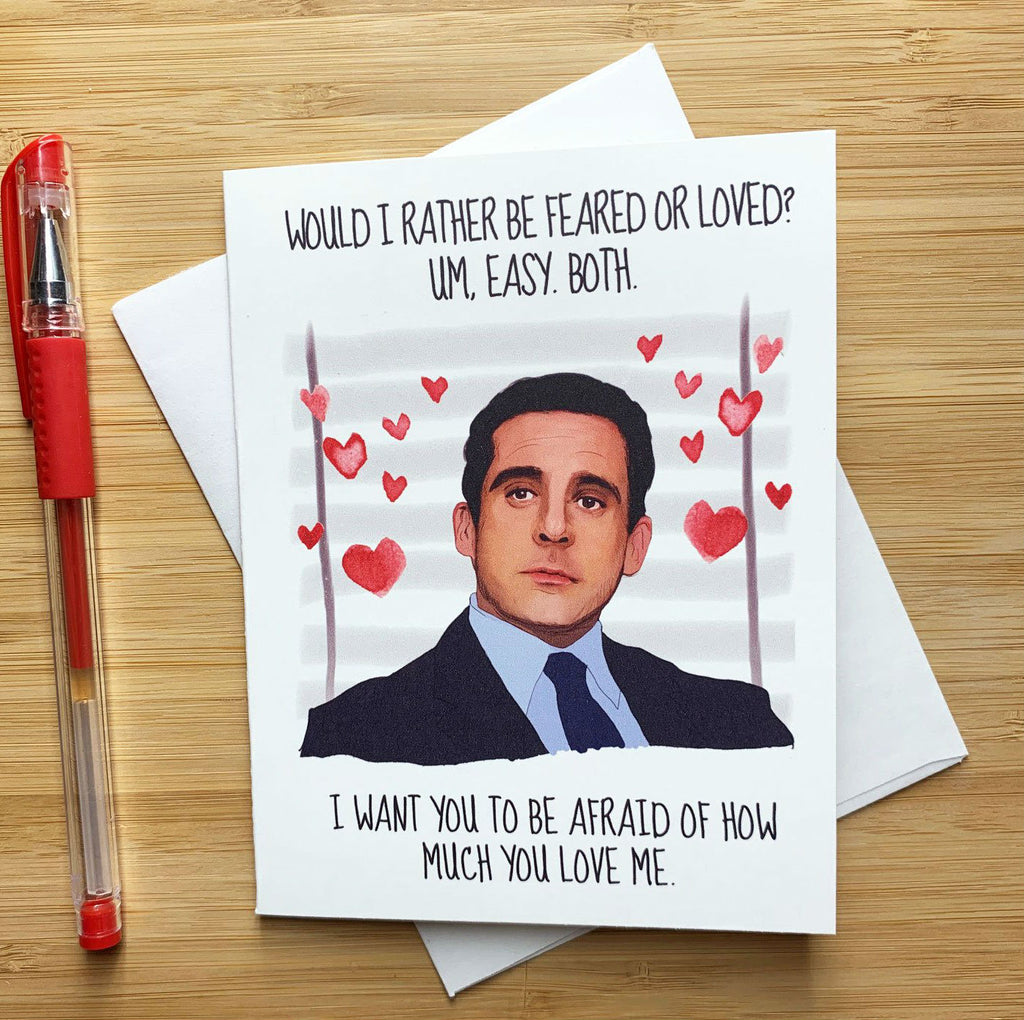 The Office Michael Scott Prison Mike Birthday Card with Dwight Business Card