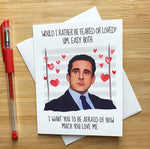 Michael Scott Valentine's Day Card