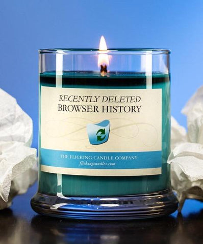 Recently Deleted Browser History Funny Scented Candle
