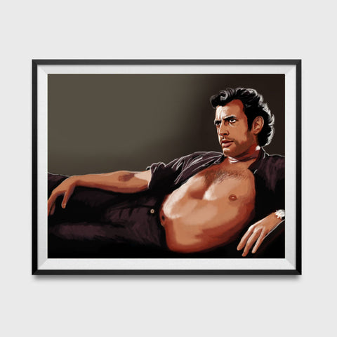 Sexy Jeff Goldblum Inspired Art Poster 11x17