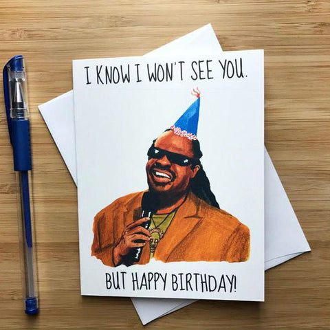 Funny Stevie Wonder Birthday Card