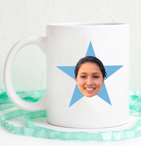 The Office Personalized Face Star Mug