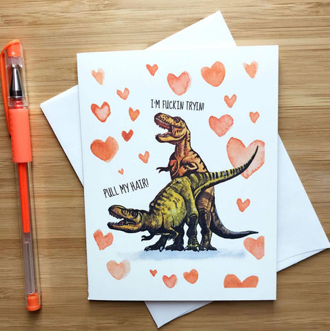 T-Rex Valentine's Day Card