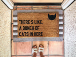 There's Like, A Bunch Of Cats Here Doormat
