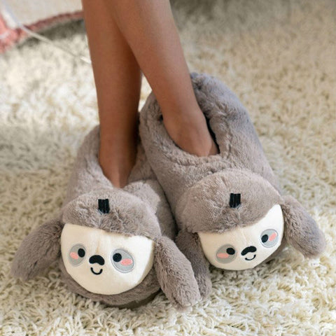 Sloth USB Heated Slippers