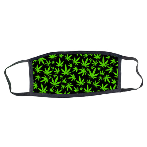 Weed Pattern Face Mask