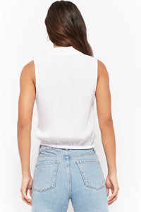 Sleeveless Tie-Front Shirt
