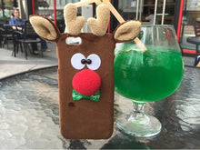 Load image into Gallery viewer, Plush Reindeer iPhone Case