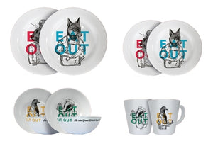 16 PIECE EAT OUT MELAMINE SET