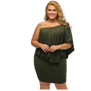 Plus Size Sexy Mini Dress