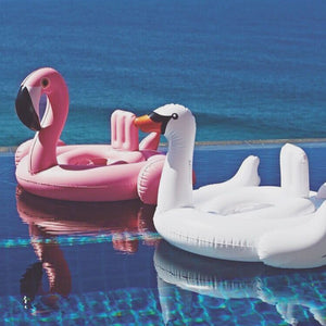 2017 Baby Swimming Float baby Seat Float Inflatable Flamingo Swan Pool Float Baby Summer Water Fun Pool Toy Kids Swimming ring