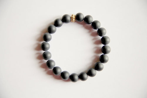 Self Confidence - Men's Genuine Frosted Black Onyx