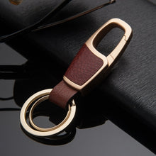 Load image into Gallery viewer, Leather Wrapped Keychain