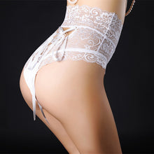Load image into Gallery viewer, Briefs For Women Fashion High Waist Black Lace Underwear Sexy Cross Lacing Underpants Lady String Thong Panties