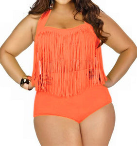 10 Colors! Women's Swimming Suit Fringe Bikini Sexy Bathing Suit Biquini Long Tassel Swimwear Plus Size Bikini sets Large Size