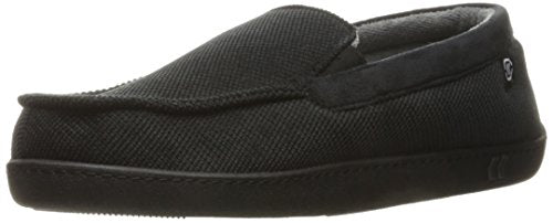 Men's Diamond Corduroy Moccasin Slipper with Cooling Memory Foam Comfort