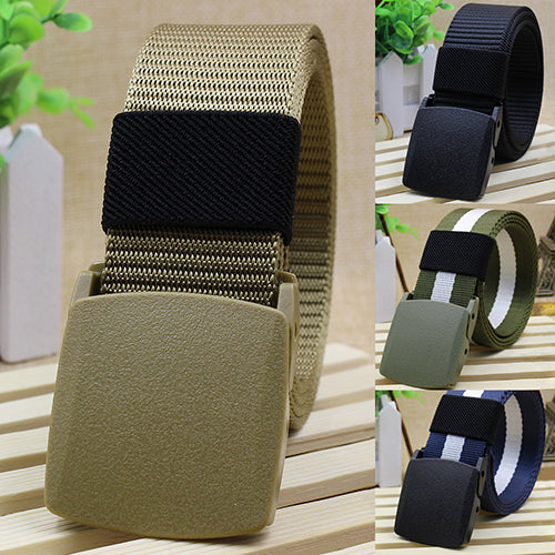 Handsome Cool Men's Fashion Practical Tactical Military Nylon Buckle Waist Belt