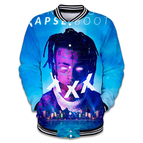 Hit hop 3d Xxxtentacion baseball Jacket men women Rapper Fans Sweatshirt fashion jackets men Streetwear Neutral jacke