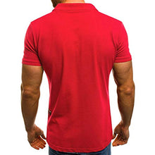 Load image into Gallery viewer, Men T-Shirt Summer Mandatory Casual Fashion Personality Slim Short Sleeve Pockets Muscle Lapel Tee Blouse