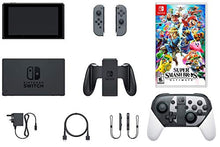 Load image into Gallery viewer, Nintendo Switch Ultimate Limited Bundle: SSB Ultimate Game with Limited Edition Pro Controller, Nintendo Switch 32GB Gaming Console with Gray Joy-Con and Extra 128GB SD Card