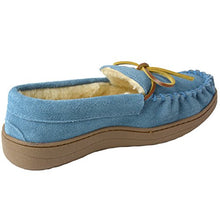 Load image into Gallery viewer, Alpine swiss Sabine Womens Genuine Suede Shearling Slip On Moccasin Slippers