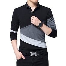 Load image into Gallery viewer, Wishere New Men's Fashion T-Shirt Cotton Long-Sleeved Polo Shirt Grey