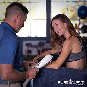 PUREWAVE™ CM-07 Dual Motor Percussion + Vibration Therapy Massager (White) | Official Patented CM-07™ | Treat pain for back, sciatica, neck, leg, foot, plantar fasciitis, tendinitis, arthritis, sports
