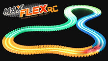 Load image into Gallery viewer, Max Traxxx Max Flex 200 R/C Glow in the Dark Flexible Race Track System with Light Trace Technology 1:64 Scale Remote Control Car: Toys & Games