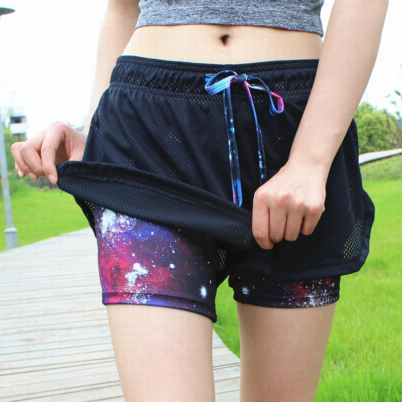 Aipbunny Women Breathable Mesh Gym Yoga Shorts Training Sportwear Jogging Cycling Fitness Workout Short Athletic Workout Clothes