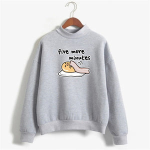 Print hoodies women Lazy Egg oversized hoodie funny autumn clothes pink sweatshirt