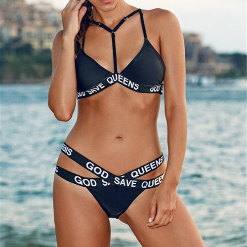 Swimwear Woman Sexy Bandage Bikini Set 2018 Cross Strappy