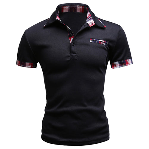 Fashion Brand Men Polo Shirt Solid Short-Sleeve Slim Fit Polo Mens Embroided Shirt