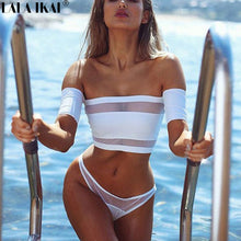 Load image into Gallery viewer, New Design Sexy Bikinis Set White Women Swimwear Summer Bathing Suit