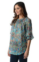 Load image into Gallery viewer, Women's 3/4 Three Quarter Sleeve Printed Chiffon