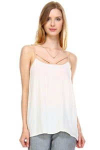 Women's V-neck Line Detail Lightweight Top