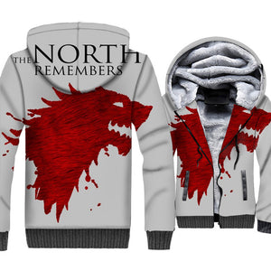 Game Of Thrones Hoodies Winter Is Coming Print 3D Jackets for Men