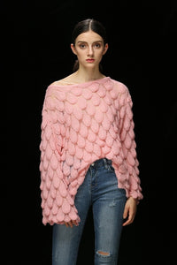 Autumn Winter Sweater Women 2018 Casual Hollow Out Full Flare Sleeve Crocheted Sweaters Tops Female Solid Thin Sweater