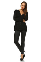 Load image into Gallery viewer, Women's Lightweight V-Neck Cardigan