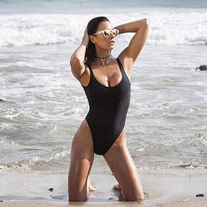 2017 Sexy 1 one piece swimsuit Backless swim suit for women Swimwear low cut back Bathing suit swim wear female Monokini S-2XL