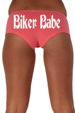 Load image into Gallery viewer, Women's Juniors White Biker Babe Booty Shorts