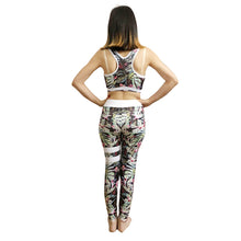 Load image into Gallery viewer, 2 Pcs Women Sexy Yoga Set Bra+Leggings Ladies Quick Dry Tracksuit Running Sportswear Fitness Suit Workout Leggings Gym Clothing