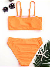 Load image into Gallery viewer, Bandeau Bikinis Set New Sexy Push Up Swimsuit High Waisted 2 Pcs Black Swimwear High Cut Biquinis Orange Blue White XL