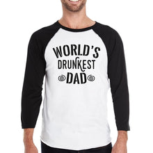Load image into Gallery viewer, World's Drunkest Dad Mens Baseball Tee Funny