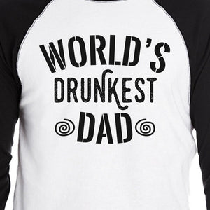 World's Drunkest Dad Mens Baseball Tee Funny