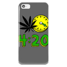Load image into Gallery viewer, 420 Cannabis Weed Leaf Design iPhone 5-5s Plastic Case