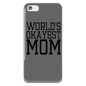 World's Okayest Mom iPhone 5-5s Plastic Case